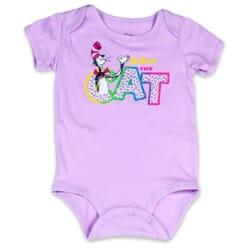 Dr Seuss The Cat Lilac Infant Girls Onesie